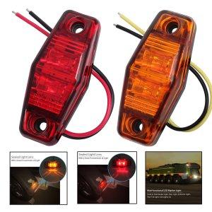 2 LED marker light for trucks vans cars motorbiles