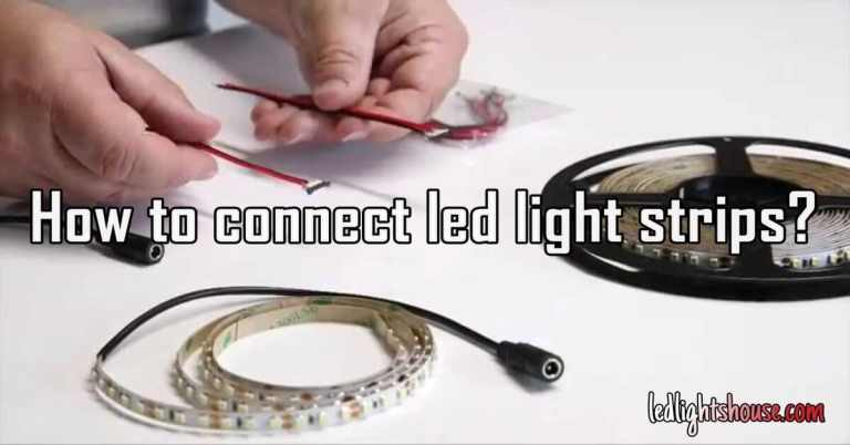 How to connect led light strips