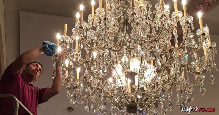 How To Clean Crystal Chandelier With, What S The Best Way To Clean A Crystal Chandelier