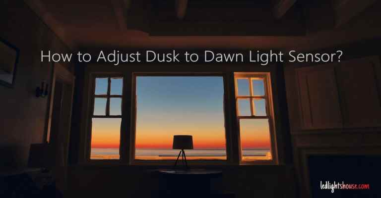 How to Adjust Dusk to Dawn Light Sensor