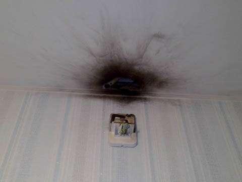 Ремонт натяжного потолка - порез, протечка, дырка