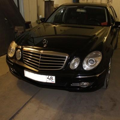 Замена ксеноновых линз Mercedes Benz E280 W211