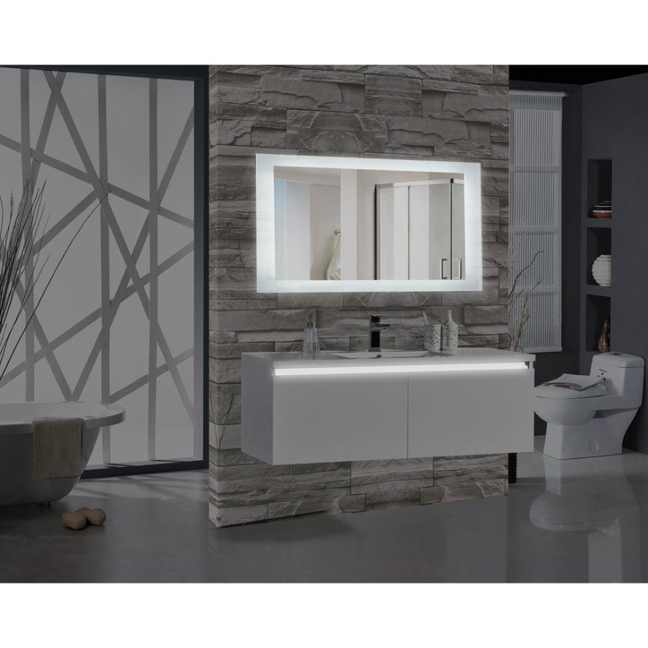Rectangular Illuminated Bathroom LED Mirror