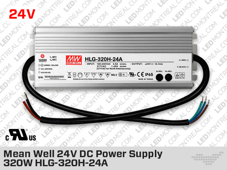 Mean Well Outdoor 24V DC Power Supply 240W 10A HLG-240H