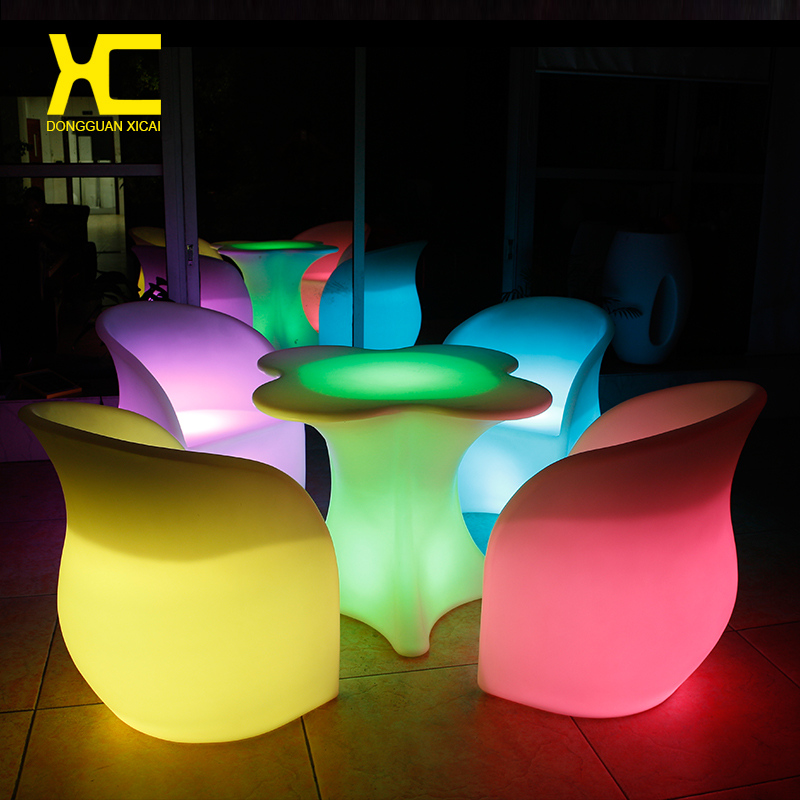 Led Furniture Set  BallCubeChairTableSofa