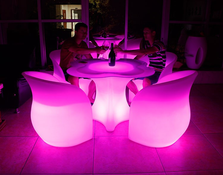 led table and chairs outdoor chair with canopy furniture set ball cube sofa aliexpress finds bar clover 05 wholesale flower
