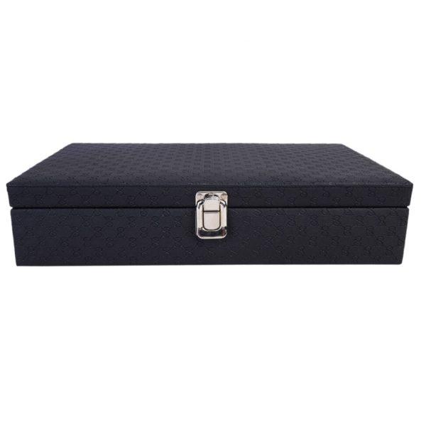 LEDO Watch Box in Royal Black Color