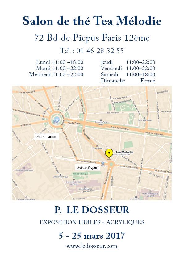 Plan accès Exposition Le Dosseur Peintures Tea Melodie