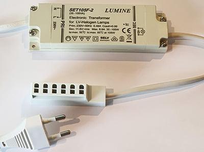 Lumine 35-105VA 230V transformator 12V   Halogen