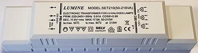 Lumine 50-210VA 220-240V AC transformator 12V AC