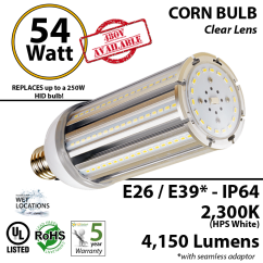 Hps Ballast Wiring Diagram For 7 Pin Trailer Connection 54w Led Corn Light 300 Watt Replacement. 5900 Lumens 2300k | Ledradiant