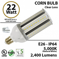 Super Bright LED Corn Bulb 100 watt HPS Equivalent 22w