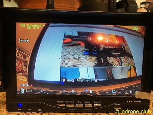 OSD sur écran boscam RX-LCD5802