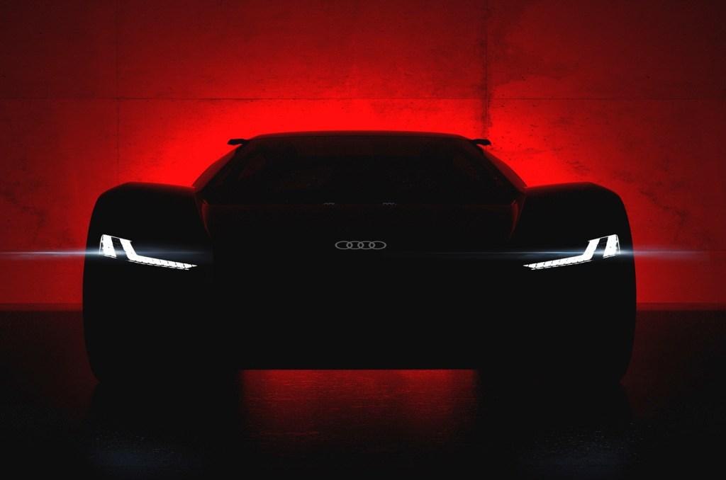 super car using LED headlights