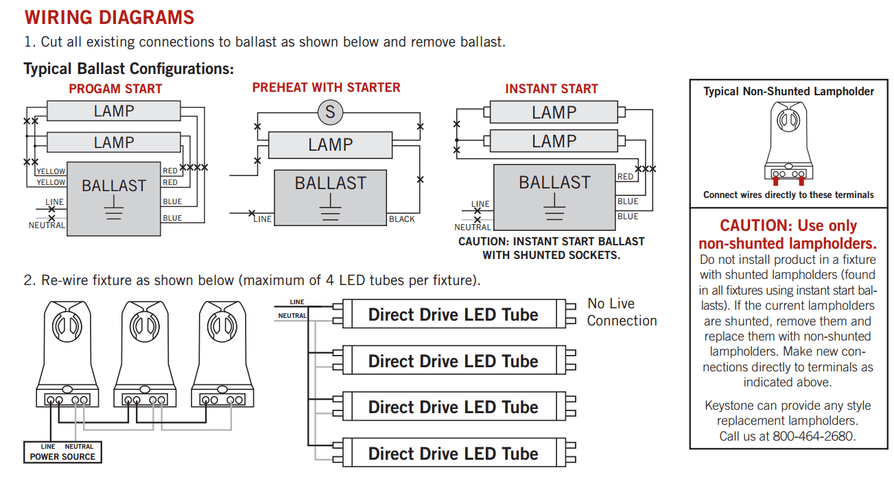 hight resolution of t8 led wiring diagram wiring diagram online led control diagram keystone direct drive 4 22w