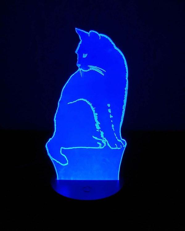 3D светильник Кошка