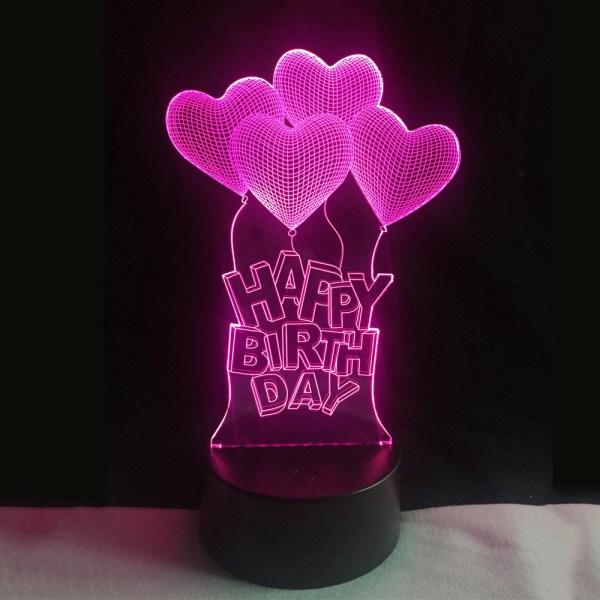 3D светильник Happy Birthday
