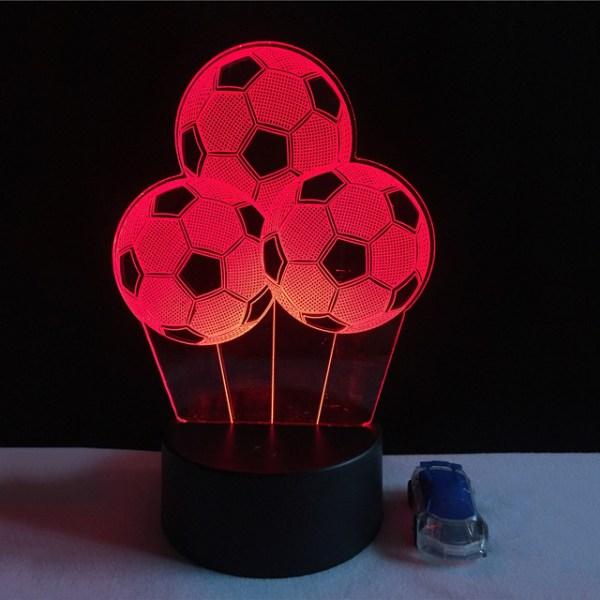 3D светильник 3 мяча
