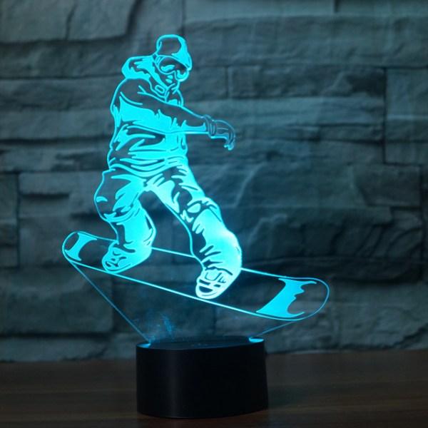 3D светильник Сноуборд