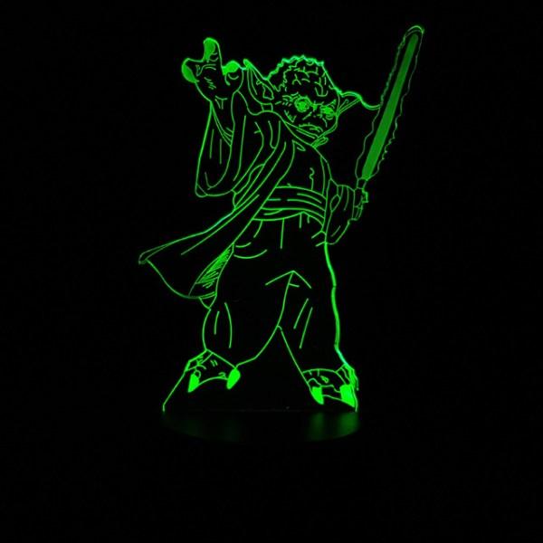 3D светильник Мастер Йода