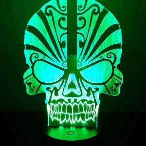 3D светильник Череп с узорами 2
