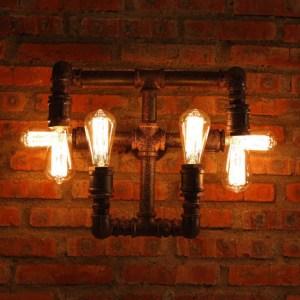 Лофт светильник из труб настенный