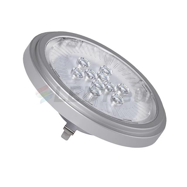 Żarówka AR-111 LED SL/WW/SR biała ciepła 2700K 12V srebrna obudowa 22962 Kanlux Ledy.eu - oświetlenie LED