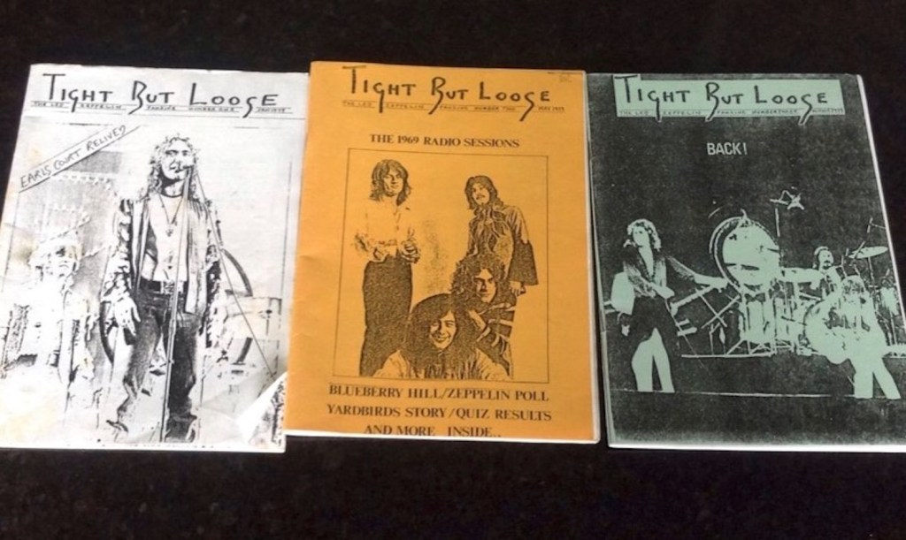 Some early issues of Tight But Loose magazine