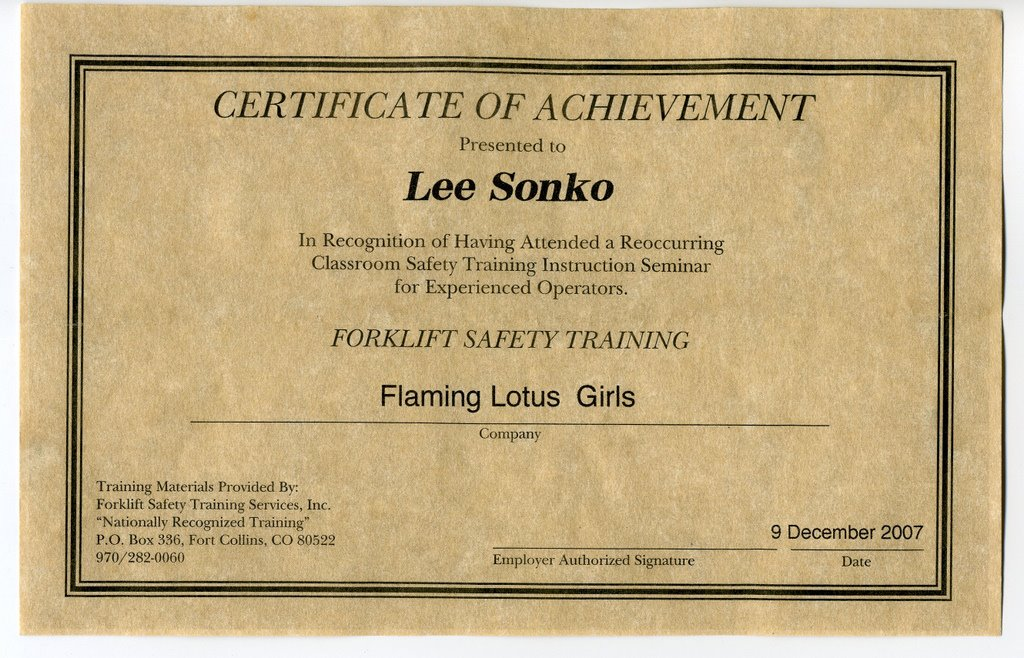 Lee Blog Archive Forklift Certification