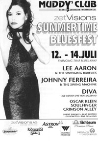Flyer for Summertime Bluesfest 2002
