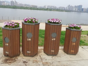 cleverly disguised recycling bins