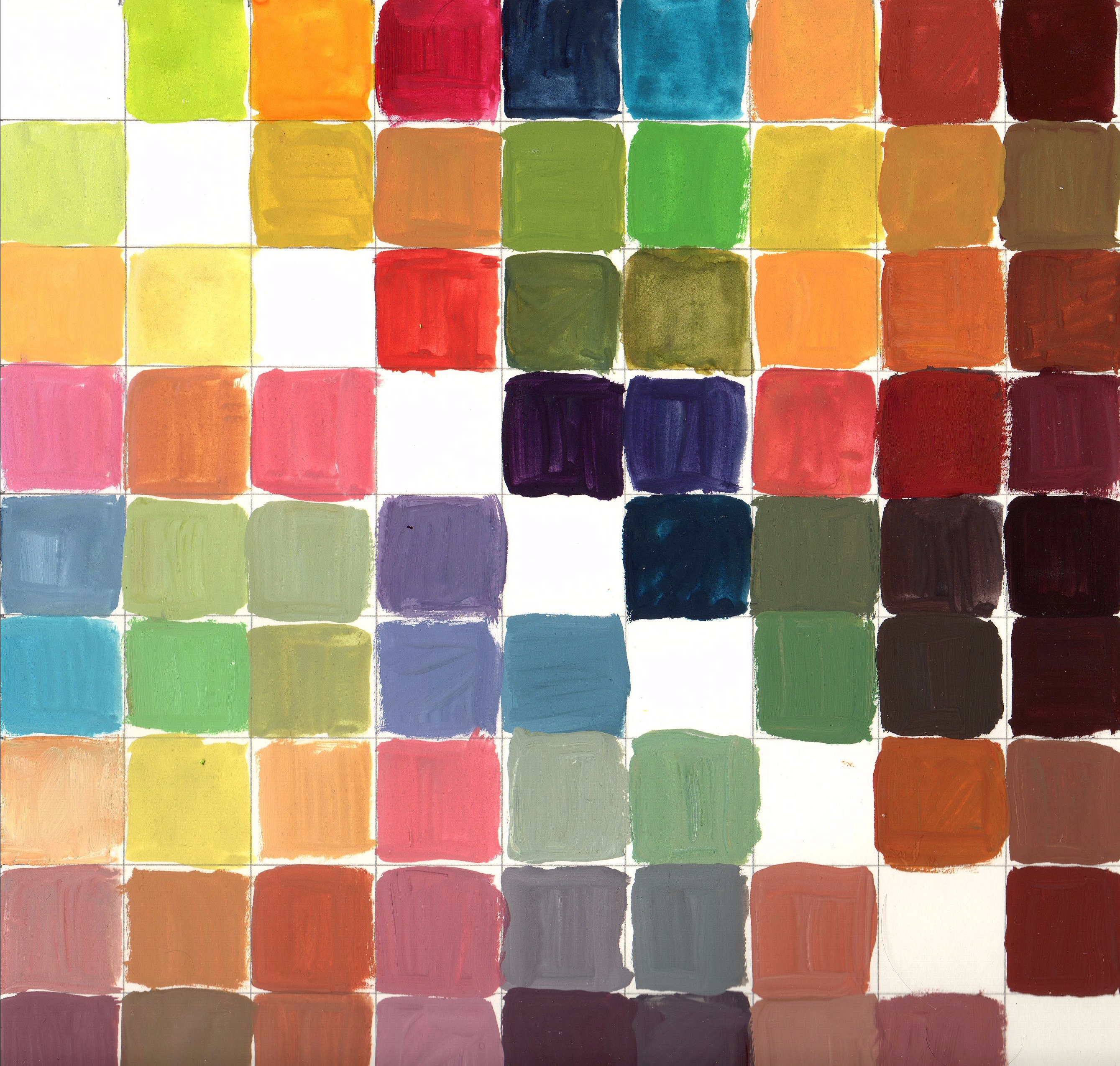 My Personal Palette Gouache Experiments Lee Angold