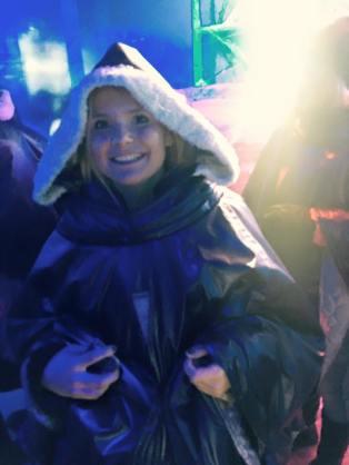 Cosy in my snow cape
