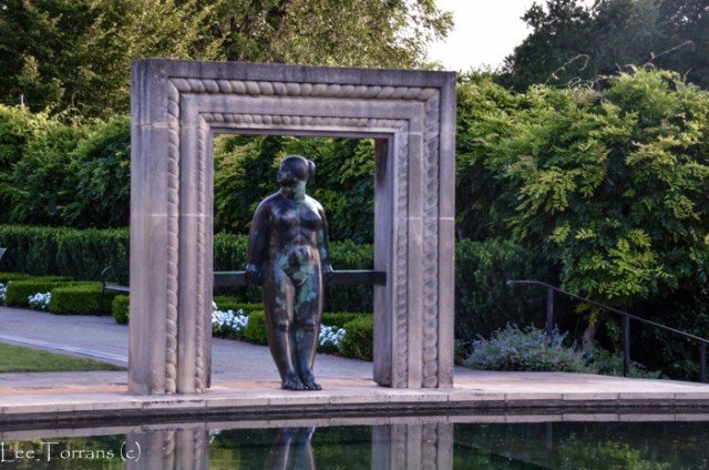 A woman for eternity, framing beauty at the Dallas Woman's Garden of the Dallas Arboretum.