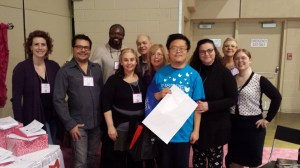 The Hub Authors with volunteer Vic at the end of INSPIRE! TIBF