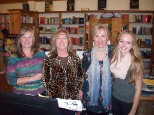 Susan, Education Specialist on the left, me, Shelley Macbeth, Owner, and Katy. Thank you for supporting Indie Authors.