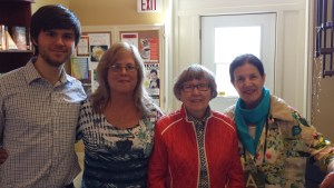 Here we all are at #Authors 4Indies day. Can you believe Claire Mowat, wife of the late Farley Mowat, and Plum Johnson were chatting. We surprised them. :) Thank you for the nice time spent together. :) And thank you kindly Claire for signing on our books on behalf of Mr. Mowat.