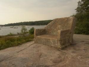 Stone Chair at Thumb Point, Georgian Bay
