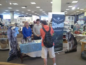 Our first customer of the day at Chapters Square One. Thanks for stopping by and your kind words of support.