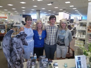 Sisters Lynn, Lee, and Cindy pictured with J.R. Matheson at Chapters Square One.