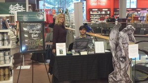 Here we are at Chapters Bayview Village. Love this bookstore. Great location for our table too. Thank you Colin.