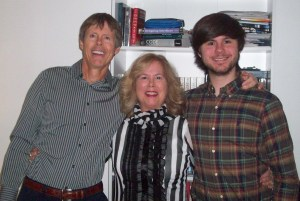We wish everyone a healthy, happy, and joyous 2016. Lee and J.R. pictured with Kevin Matheson, husband and father, manager.