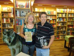 David is pictured with Lee at the book signing for Destiny's Gate held at The Book Keeper, Sarnia, ON.
