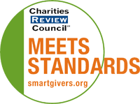 Charities Review Council - Meets Standards. smartgivers.org