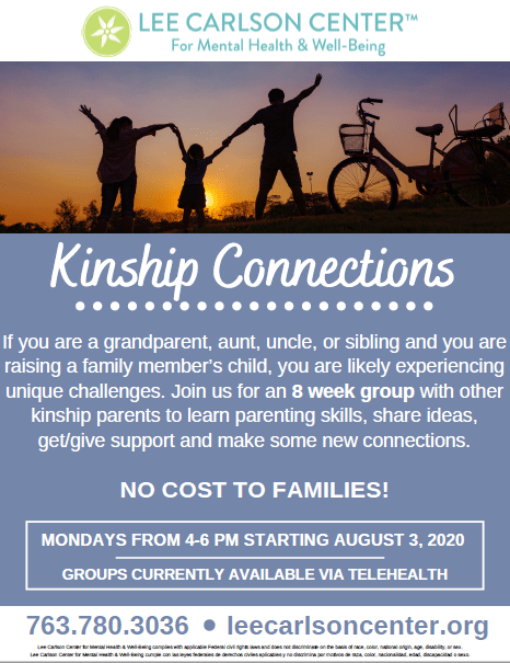 New Supportive Group Offering for Caregivers Caring for Kin and Chosen Kin Now Available