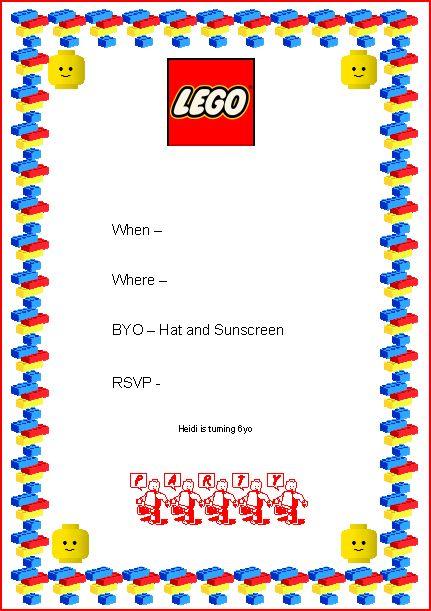 40th birthday ideas lego birthday invitation templates