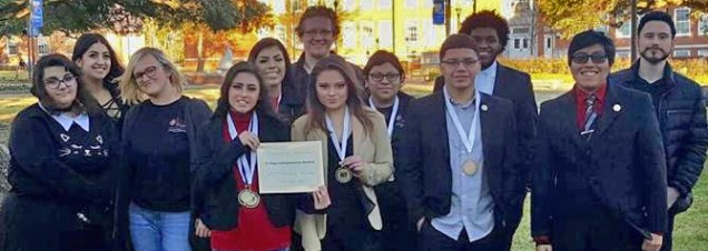 Debate team with awards following La. Tech events