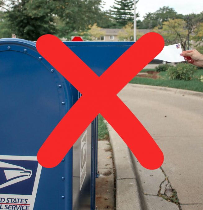 DROP OFF your mail ballot: DON'T Use Post Office