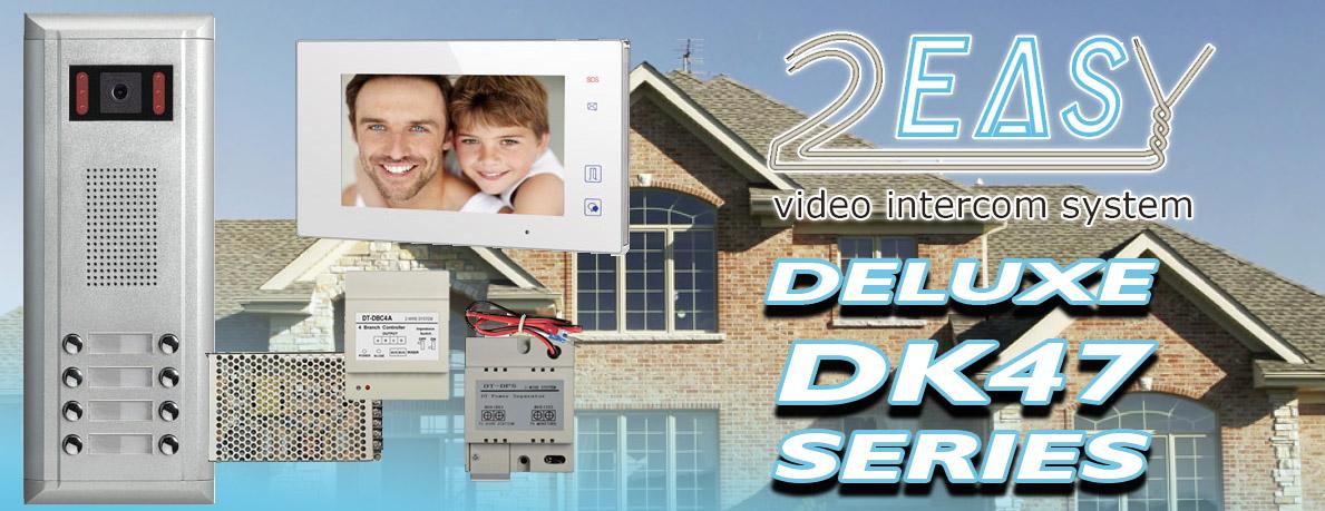 2Easy DK4731M 3 Apartment Color Video Intercom System Kit