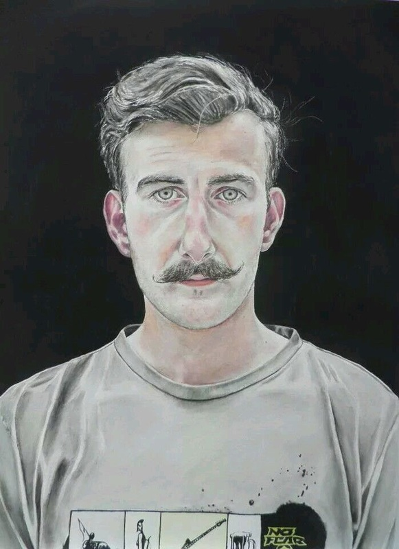 Fearless John, watercolour painting by Lee Devonish, 2011